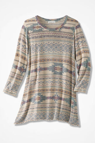 Enchanted Mesa Knit Pullover, Multi, large