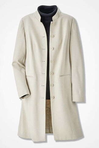 Ponte Perfect Duster Jacket, Alabaster, large