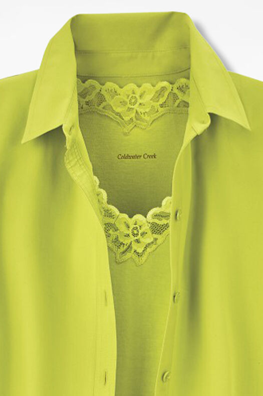 Long-Sleeve Easy Care Shirt, Bermuda Green, large