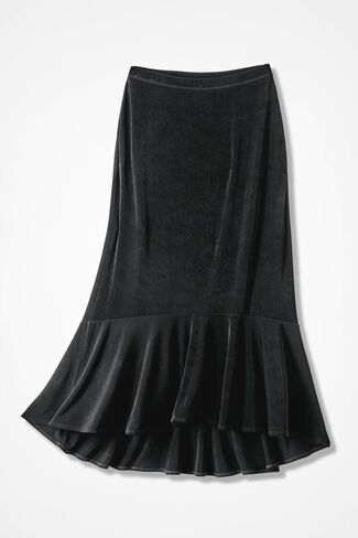 Destinations Flounced Skirt, Black, large