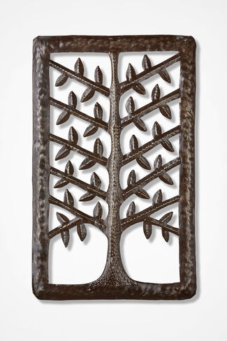 Sculpted Tree Wall Hanging, Brown, large