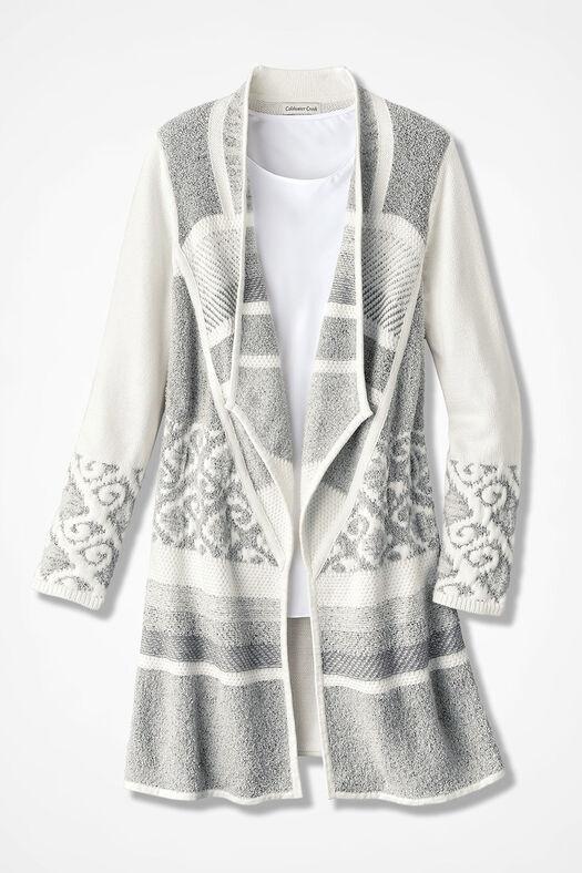 Winter Harmony Sweater Coat, Ivory, large