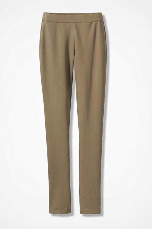 Ponte Perfect® Slim-Leg Leggings, Sandhill Khaki, large