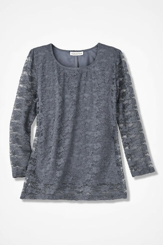 Lavish Lace Top, Graphite, large