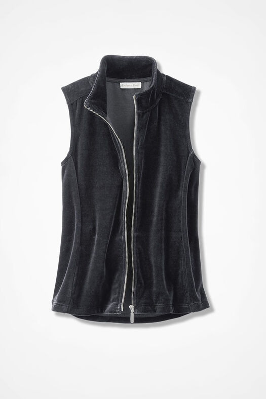 Velour du Jour Vest, Black, large