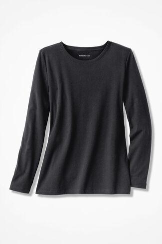 Interlock Knit Tee, Black, large