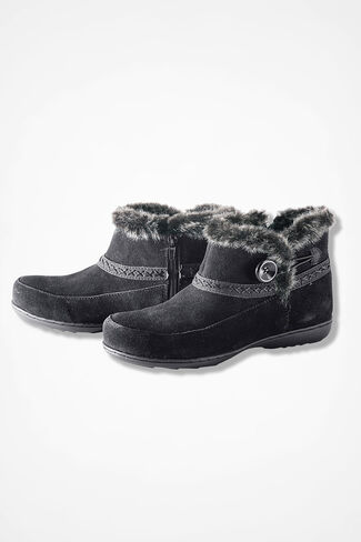 """Foothills"" Suede Boots by Walk With Me™, Black, large"