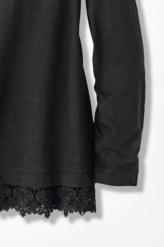 Peek of Lace Tee, Black, large