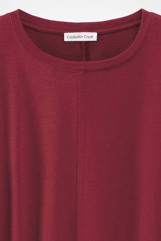 Superbly Soft Fleece Pullover, Rust, large