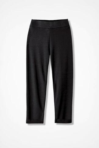 Essential Supima® Cropped Leggings, Black, large