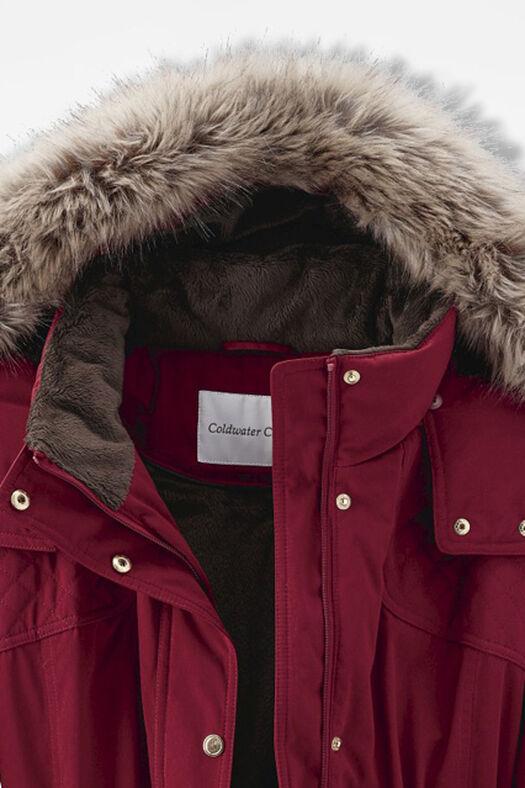 Winter Chaser Hooded Storm Coat, Garnet, large