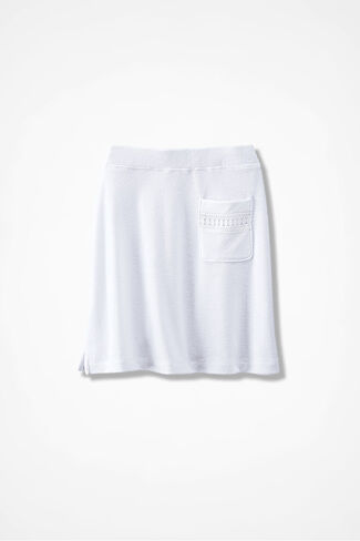 Time for Terry Skirt, White, large