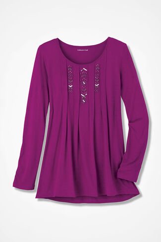 Triple Treat Beaded Tunic, Currant, large