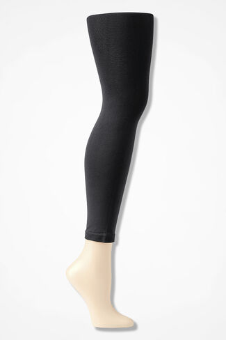 Coldwater Creek® Opaque Footless Tights, Black, large