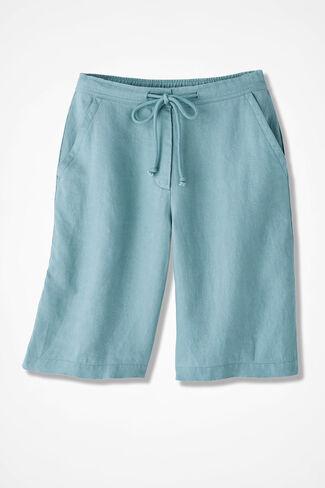 Solstice Linen Shorts, Robins Egg, large