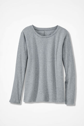 Superbly Soft Fleece Pullover, Light Heather Grey, large