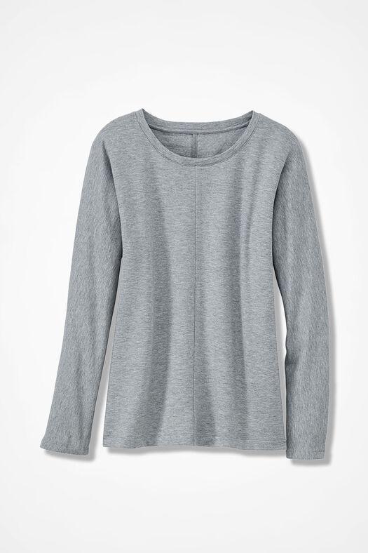 Superbly Soft Fleece Pullover, Light Heather Grey, large