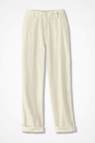 Everyday Chino Crops, Antique White, large