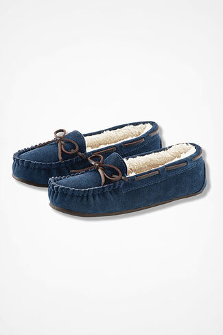 """Horizon"" Moccasins by Walk With Me™, Navy, large"
