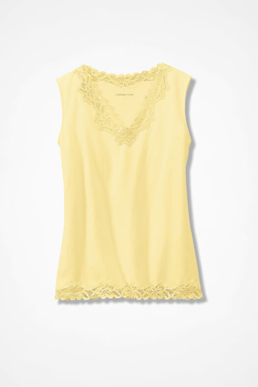 Double Lace Tank, Sunlight, large