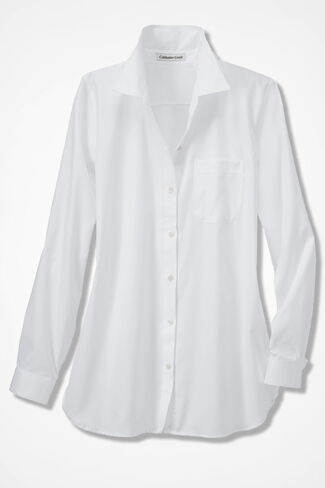 Anytime Easy Care Tunic, White, large
