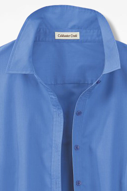 Three-Quarter Sleeve Easy Care Shirt, French Blue, large
