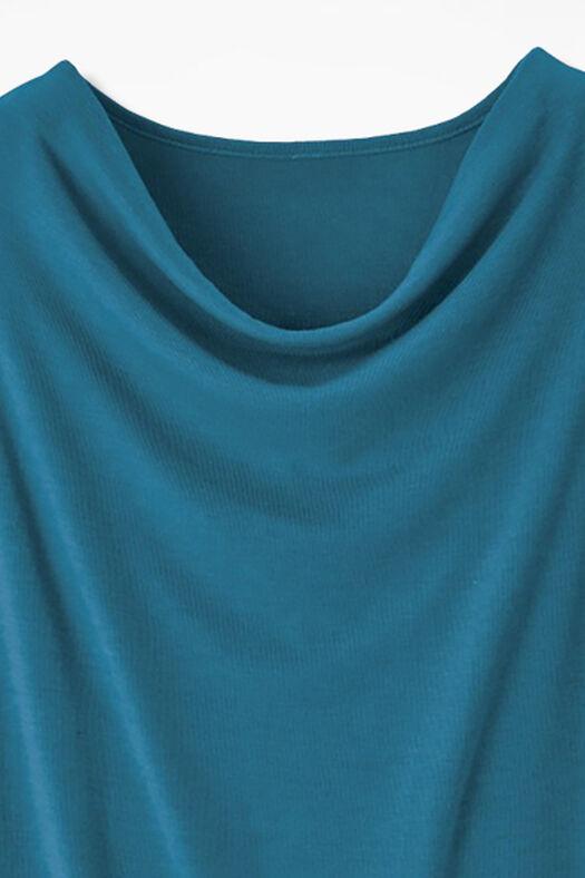 Drape-Neck Shell, Mallard Blue, large
