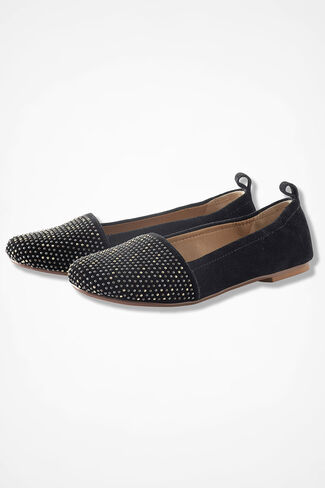 """Go Girl"" Suede Flats by Latigo®, Black, large"