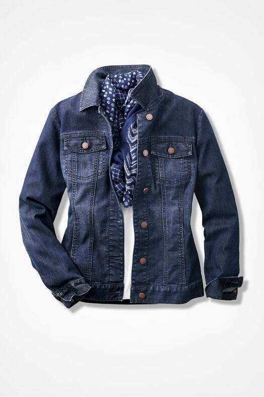 Denim Jacket, Dark Blue Wash, large