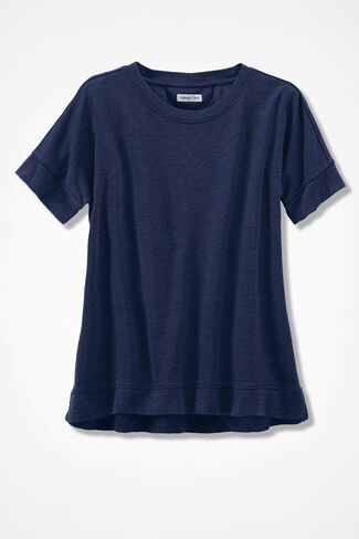 French Terry Pullover, Navy, large