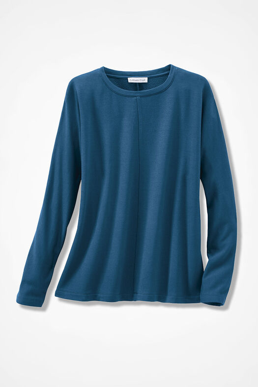 Superbly Soft Fleece Pullover, Peacock, large