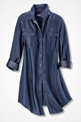 Long Tencel® Tunic, Medium Blue, large