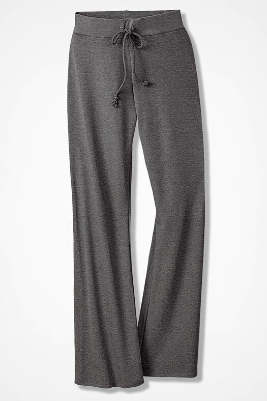 Essential Supima® Pants, Mid Heather Grey, large