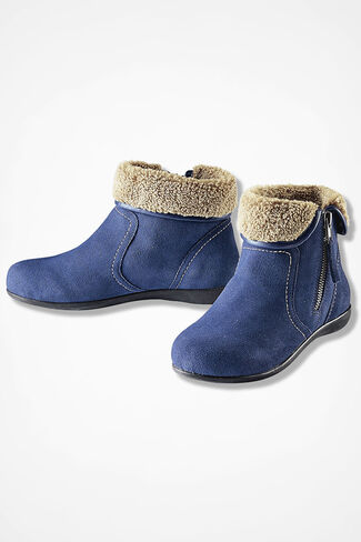 """""""Summit"""" Suede Boots by Walk With Me™, Blue Indigo, large"""