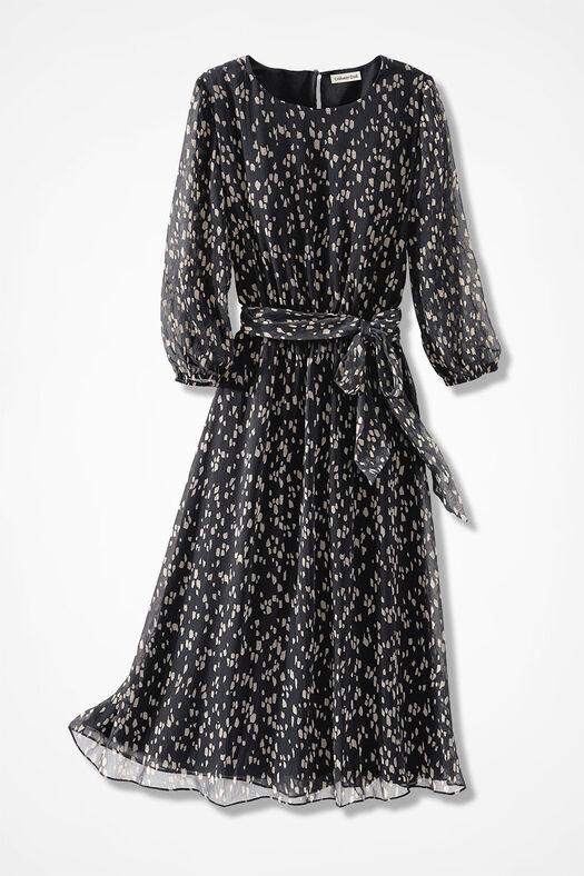 Pointillist Magic Moment Dress, Black Multi, large