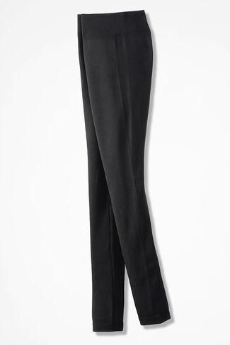 Coldwater Creek® Fleece-Lined Leggings, Black, large