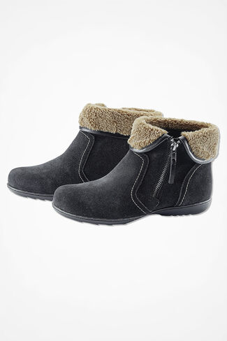 """Summit"" Suede Boots by Walk With Me™, Black, large"