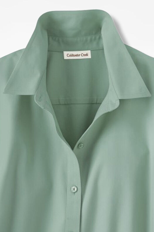 Three-Quarter Sleeve Easy Care Shirt, Agave Green, large