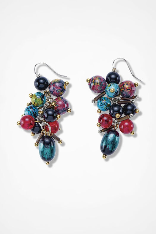 Amulets and Elements Earrings, Blue Multi, large