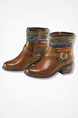 """""""Gaetana"""" Leather Boots by Spring Step®, Brown, large"""