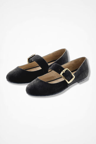 """Crissy"" Suede Flats by Me Too®, Black, large"