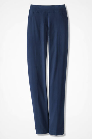 Pull-On Day-to-Dinner Pants, Navy, large