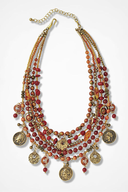 Spice Market Necklace, Bittersweet, large