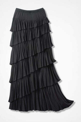 New Angle Maxi Skirt, Black, large