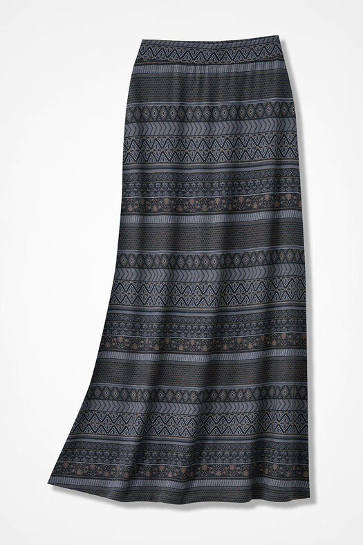 Dusky Desert Maxi Skirt, Black Multi, large