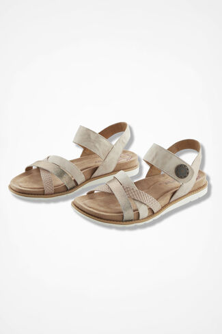 """Alonsa"" Leather Sandals by Comfortiva®, Taupe, large"