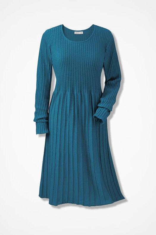 AM/PM Sweater Dress, Mallard Blue, large