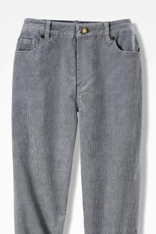 Pinwale Stretch Corduroys, Pewter, large