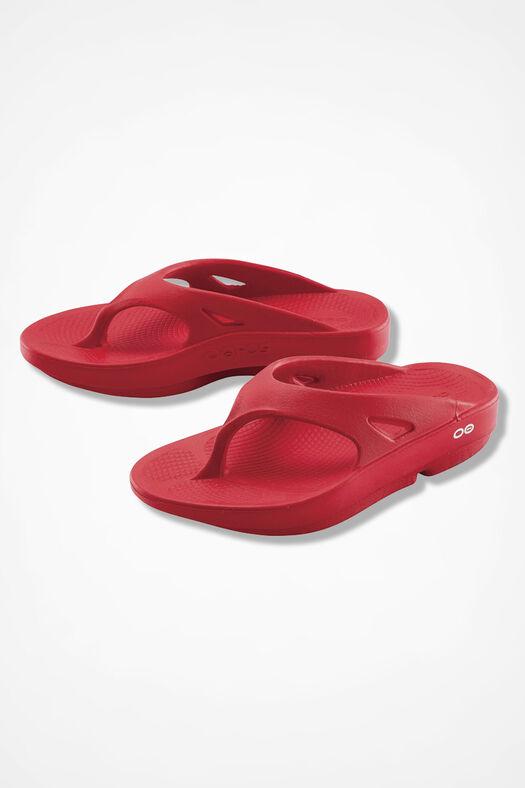 OOFOS® Original Thongs, Red, large