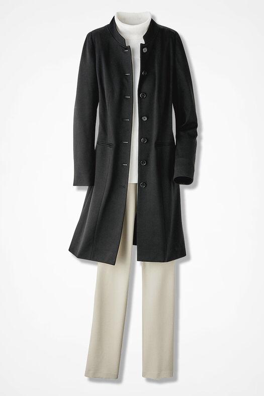 Ponte Perfect Duster Jacket, Black, large